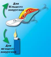 Модифікація глибини роботи воблера