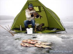 Ловля ляща взимку