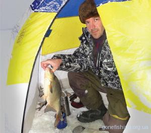 Ловля ляща в мороз